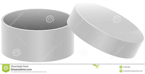 template white round open box stock vector image 47861802