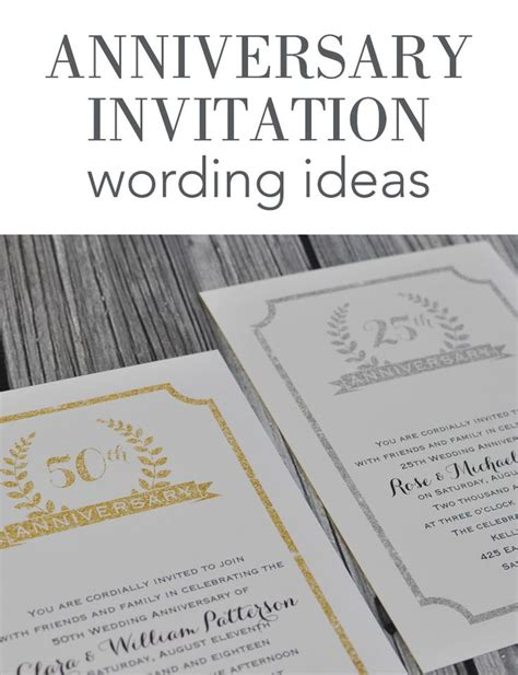 wedding anniversary invitation wording ideas wedding anniversary invitation wording ideas from