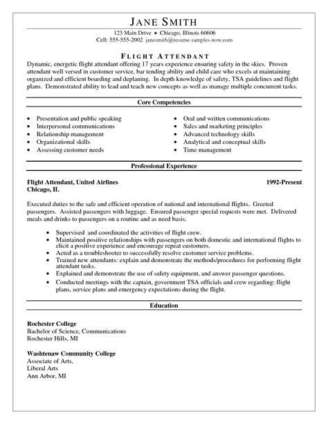Corporate Flight Attendant Resume Sample Flight Attendant