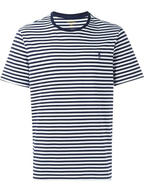 polo ralph striped t shirt in blue for lyst