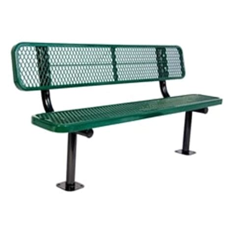 Heavy Duty 15 Foot Outdoor Bench With Back 940 The Furniture Family