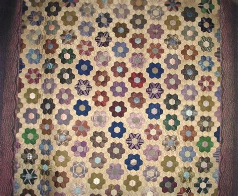 grandmother s flower garden quilt circa 1860 a fine