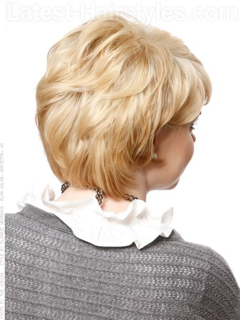 back view of short haircuts older women short hairstyle with long layers back view i really like
