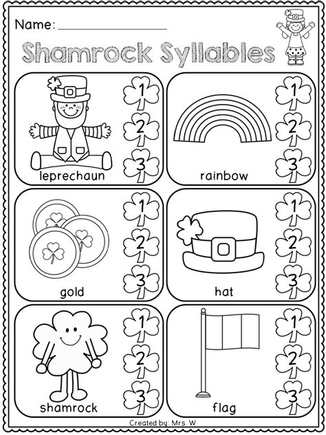 kindergarten activities march free st patrick s day literacy and math printables