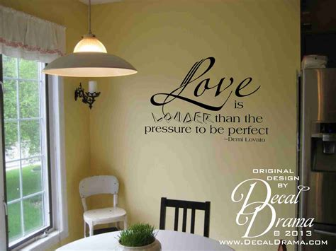 love  louder   pressure   perfect quote vinyl wall decal  storenvy