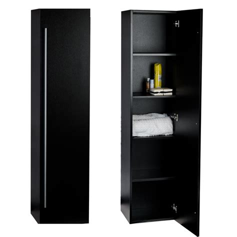 buy 16 quot x 67 quot linen cabinet in black tn n1200 sc bk on