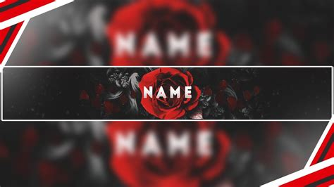 Rose Themed Banner | youtube banner template psd free download cool rose