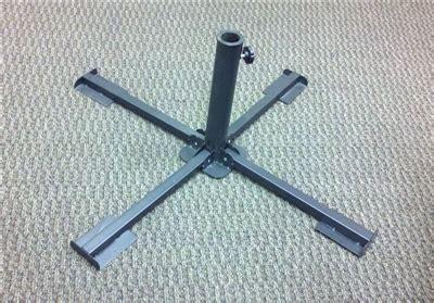 Oversized Patio Umbrellas Folding Portable Umbrella Cross Base Gunmetal Grey