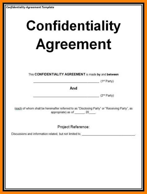 intellectual property non disclosure agreement template non disclosure agreement safest way in securing
