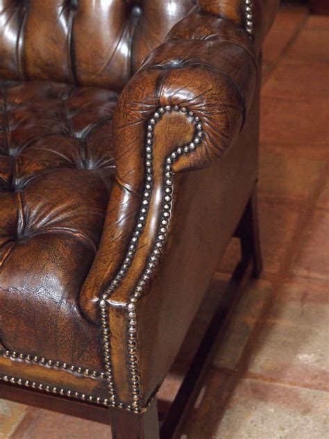 antique english wing chair at 1stdibs antique english brown leather wing chair at 1stdibs