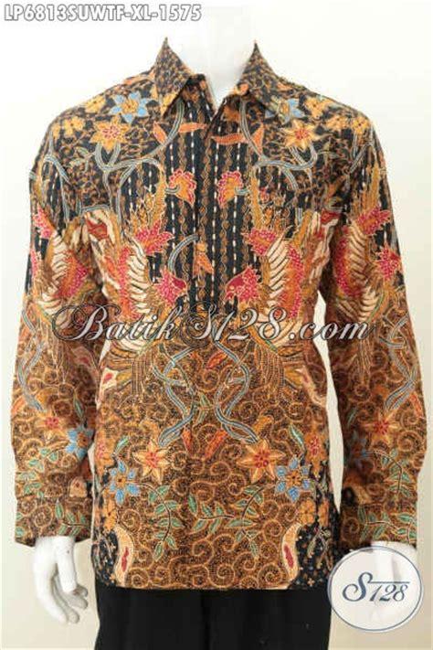 Kemeja Batik Premium Lengan Panjang kemeja batik lengan panjang premium busana batik pria pejabat berbahan twist