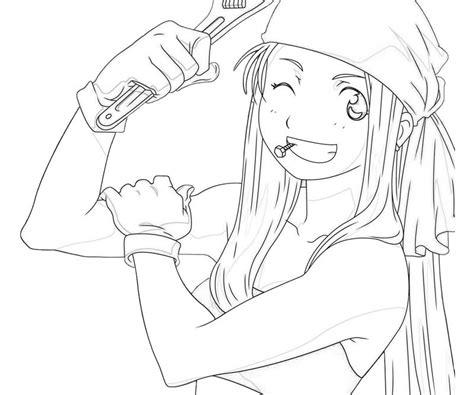 fullmetal alchemist winry rockbell smile tubing
