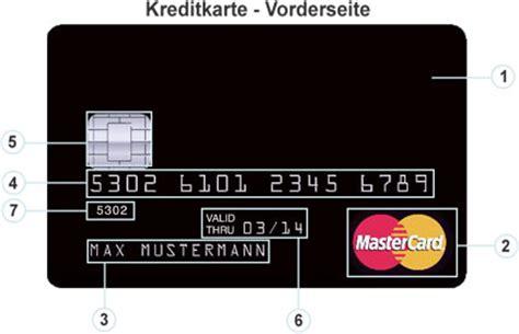 kreditkarten nummer visa aufbau kreditkarte wir erkl 228 ren die kreditkarte