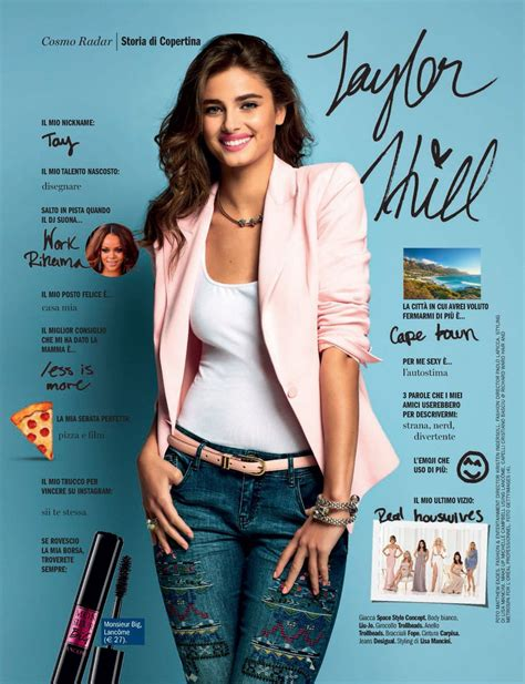 magazine may 2017 taylor hill in cosmopolitan magazine italy may 2017