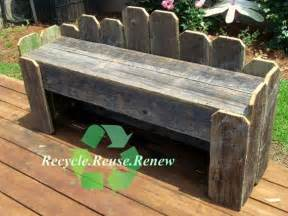garden bench recycled wood bench rustic bench country