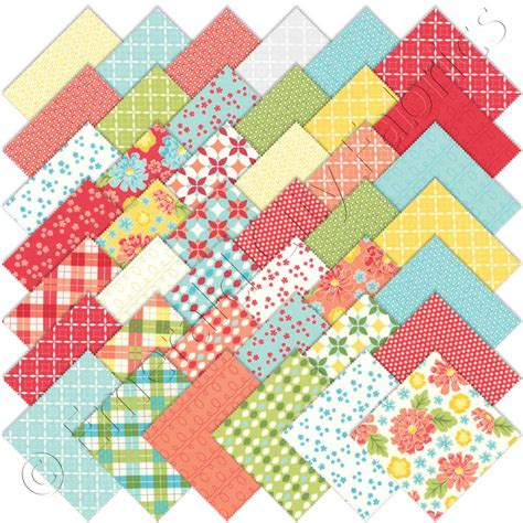 Moda Quilts by Moda Summerfest Charm Pack Emerald City Fabrics