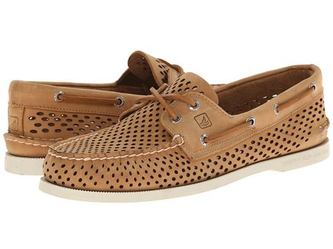 sperry top sider a o 2 eye laser perf brown zappos