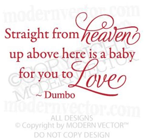 Baby Vinyl Wall Quotes details about disney dumbo quote vinyl wall decal nursery