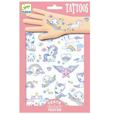 Amandine Prodotto Per Legno by Tatuaggi Unicorni Glitter Per Bambini Djeco Dj09575