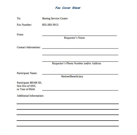 printable fax cover sheet 10 free sles exles
