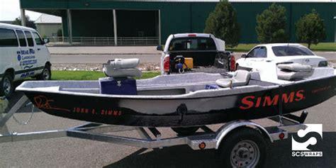 fishing boat wrap kits simms boat wrap 183 scs wraps