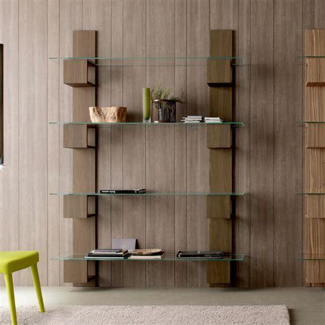 librerie componibili in legno libreria componibile moderna a parete in legno e vetro stand