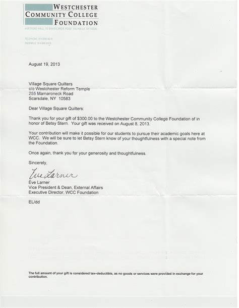 Donation Letter For Outreach Program Squares Quilters Outreach Thank Yous