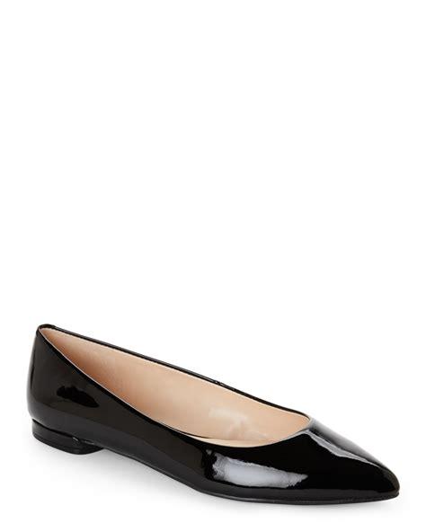 nine west shoes flats nine west black onlee pointed toe ballet flats in black lyst