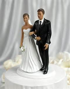 Chic dark haired wedding bride and groom cake topper wedding