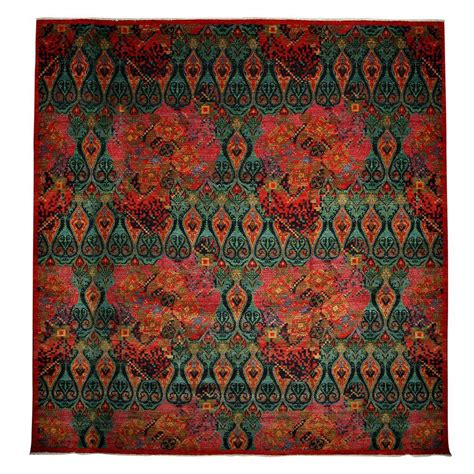 4 x 12 rug darya rugs suzani green 12 ft 2 in x 12 ft 2 in indoor square area rug m1732 4 the home depot