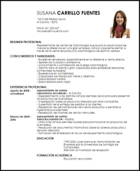 Modelo Curriculum Vitae Higienista Dental modelo curriculum vitae representante de ventas de