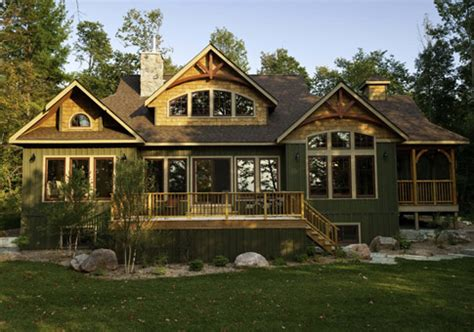 Red Leaves Home Plan Curved Timber Details In Gables Log Cabin House Plans 2500 Square