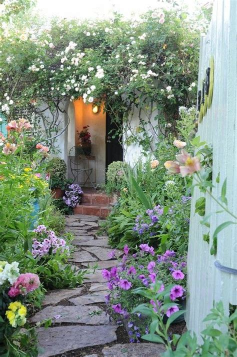 garden path to a country cottage gardening pinterest