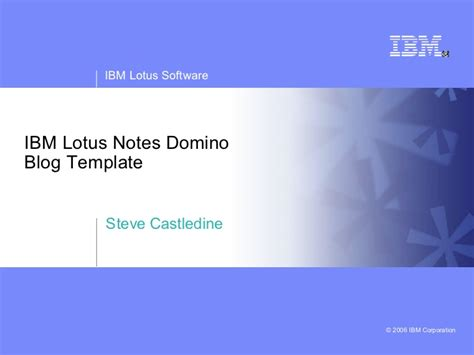 Lotus Notes Blog Template Ibm Powerpoint Template