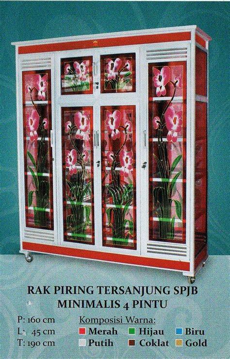 Rak Piring Di Medan jual rak piring tersanjung spjb minimalis 4 pintu harga