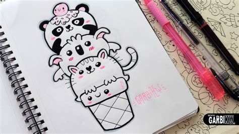 simple doodle drawings kawaii animals panda koala and cat doodles easy