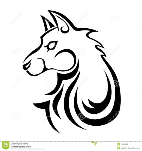 black wolf tattoo stock vector illustration of background