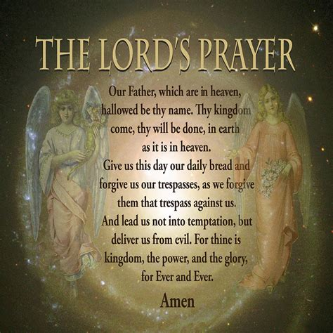 large prayer the lord s prayer digital by amelia carrie