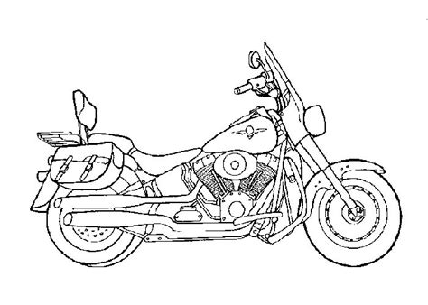 Cartoon Motorcycle Coloring Pages   free coloring pages