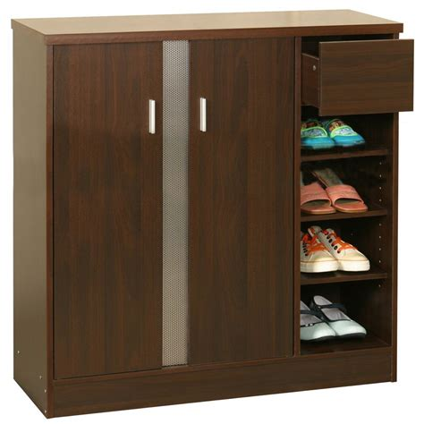 shoe storage cabinet simple elegant wooden shoe rack cupboard design ideas jpg