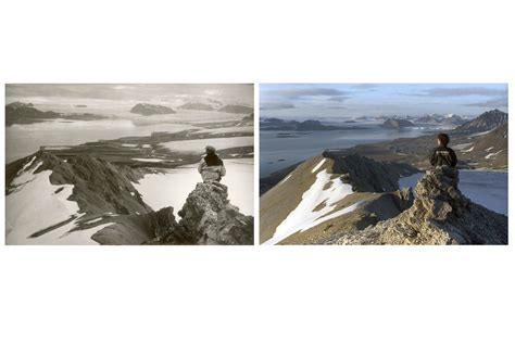 Christian Detox Retreat by Glacier Comparison On Svalbard Climate Change Christian