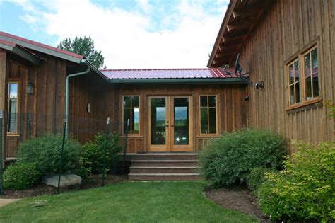 L Shaped House With Garage rustic retreat rustic exterior other by menter