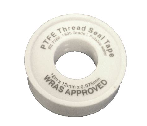 Tight Seal Plumbing by Ptfe White 12mm X 12m Wras Approved Plumbing Seal Plumbing Fittings