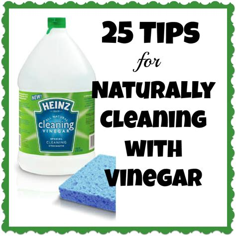 25 tips for naturally cleaning with vinegar heinzvinegar