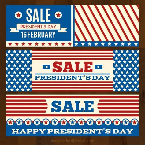 day banners free president day banners pack vector free