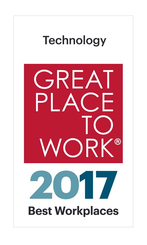Best Places For Work by Best Workplaces In Technology 2017