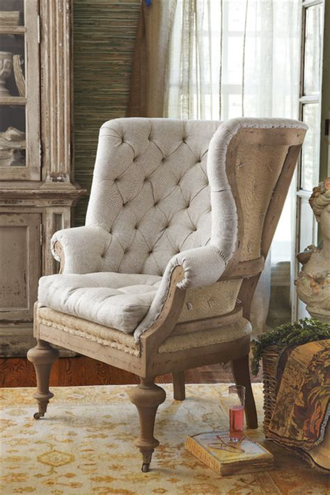 Fontaine Wingback Chair fontaine wingback chair rustic armchairs and accent