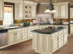 Cream Colored Cabinets With Brown Glaze Jdssupply Com Hampton By Armstrong Cabinets