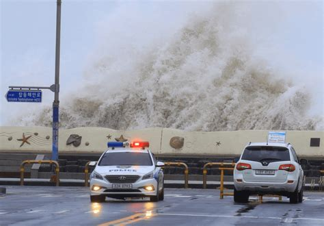typhoon hits korean peninsula disrupts flights in japan balithisweek