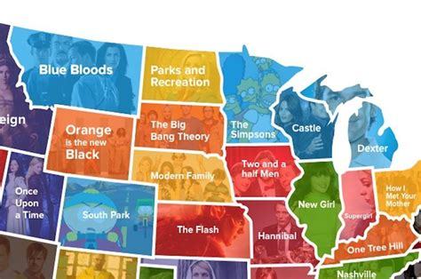the most watched tv show set in each state in one this map shows the most popular tv show in each state